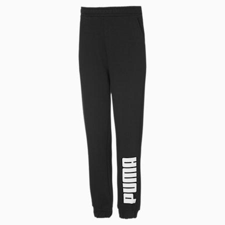 Pantalon en sweat Fleece Jogger pour garçon, Puma Black-Puma White, small