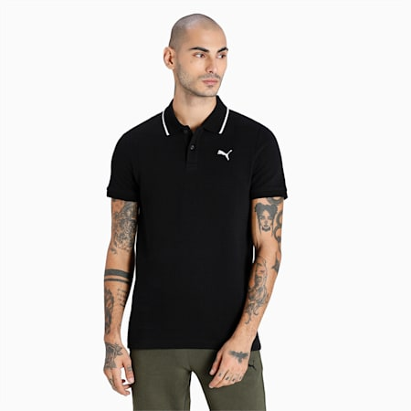 Ottoman Slim Fit Men's Polo, Puma Black, small-IND