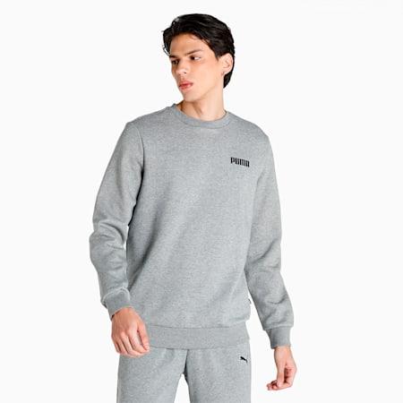 PUMA Essential Crew Men's Sweat Shirt, Medium Gray Heather, small-IND