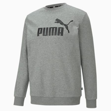 Essential Men's Big Logo Crew Sweatshirt, Medium Gray Heather, small-IND