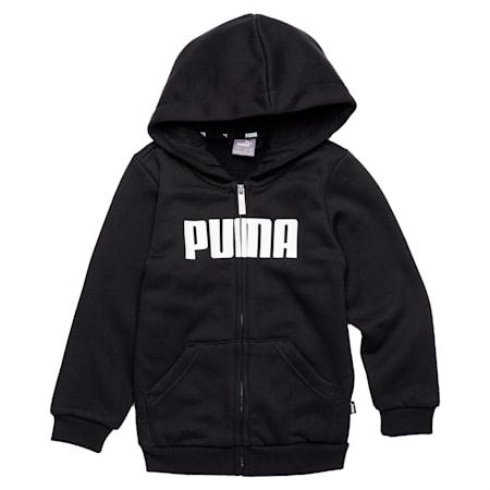 Essentials Full-Zip Boy's Hoodie, Puma Black, small-SEA