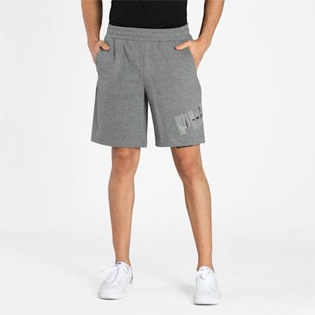 PUMA Graphic Men's Shorts, Medium Gray Heather, small-IND