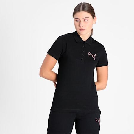 PUMA Graphic Women's Polo, Puma Black, small-IND