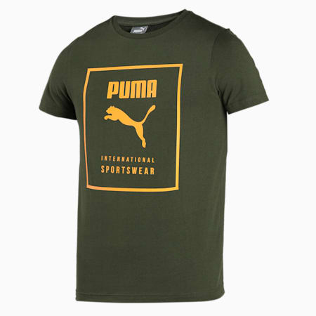 PUMA Graphic Men's T-Shirt, Forest Night, small-IND