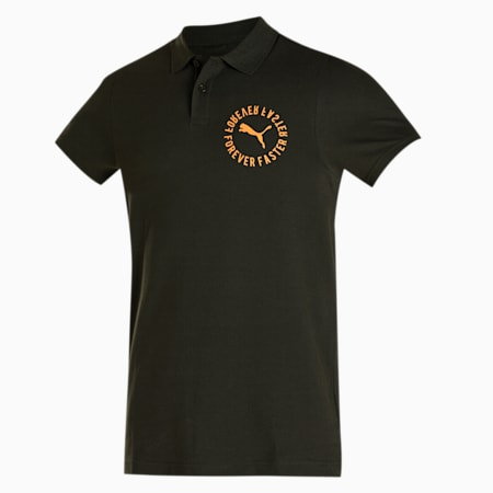 PUMA Graphic Men's Pique Polo, Forest Night, small-IND