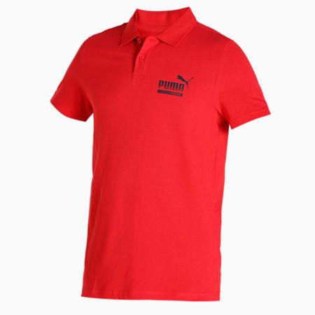 PUMA Graphic Men's Pique Polo, Ribbon Red, small-IND