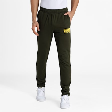 PUMA Graphic Men's Pants, Forest Night, small-IND