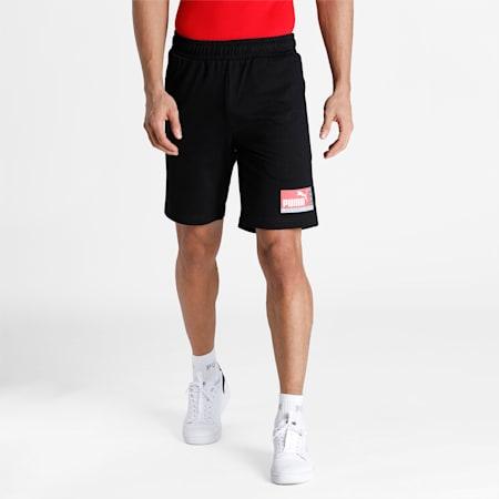 PUMA Graphic Men's Shorts, Puma Black, small-IND