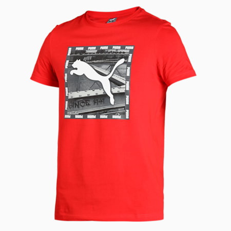 PUMA Graphic Men's T-Shirt, High Risk Red, small-IND