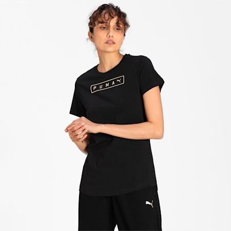 PUMA Graphic Women's T-Shirt, Puma Black, small-IND