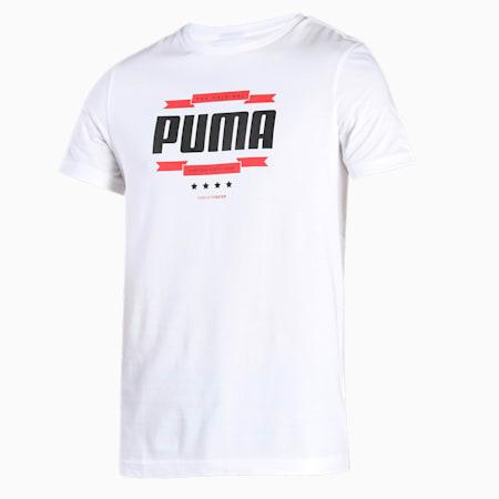 PUMA Graphic Men's T-Shirt, Puma White, small-IND