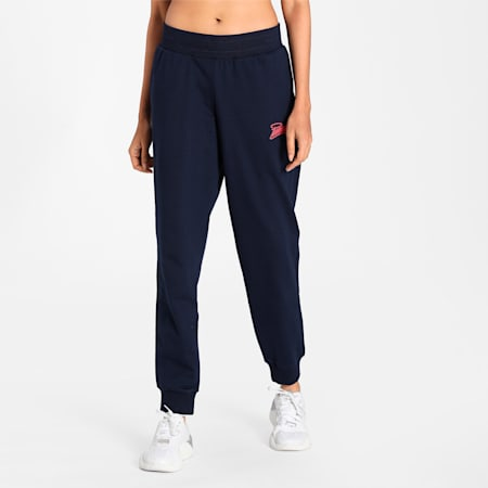 PUMA Graphic Women's Pants, Peacoat, small-IND