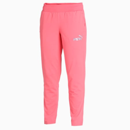 PUMA Graphic Women's Pants, Sun Kissed Coral, small-IND