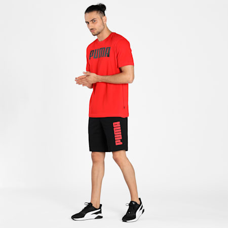 PUMA Graphic Men's Knitted Shorts, Puma Black, small-IND