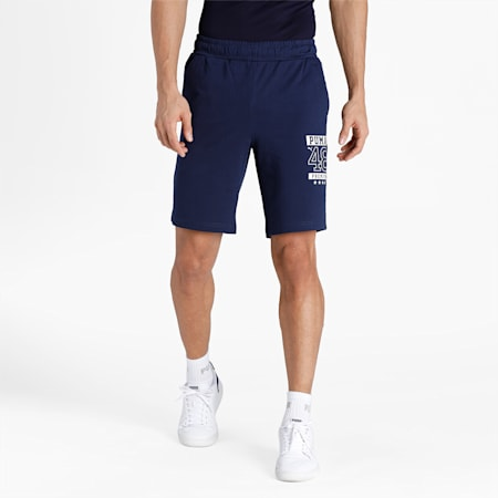 PUMA Graphic Men's Sports Shorts, Peacoat, small-IND
