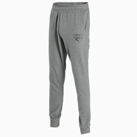 PUMA Graphic Men's Pants, Medium Gray Heather, small-IND