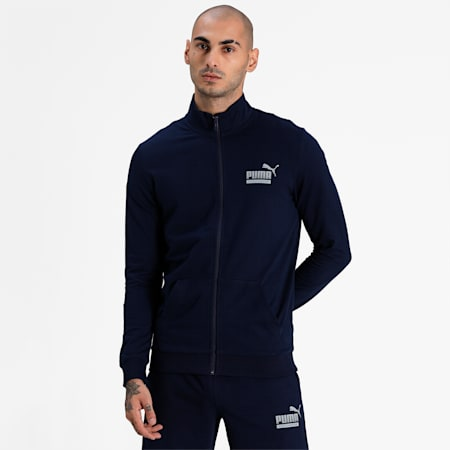 PUMA Graphic Men's Track Jacket, Peacoat, small-IND