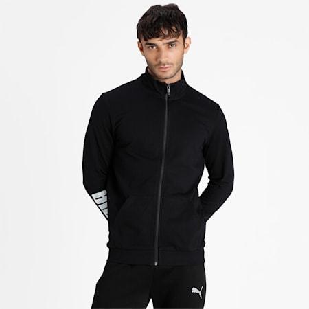 PUMA Men's Sweat Jacket, Puma Black, small-IND