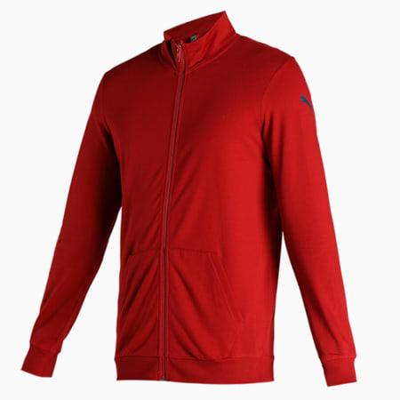 PUMA Men's Sweat Jacket, Red Dahlia, small-IND