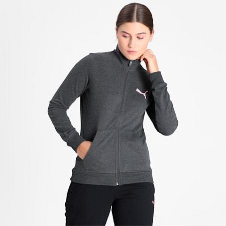 PUMA Women's Sweat Pants, Dark Gray Heather, small-IND