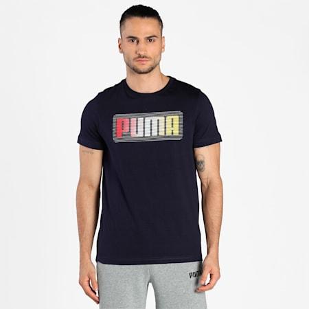 PUMA Graphic Men's T-Shirt, Peacoat, small-IND