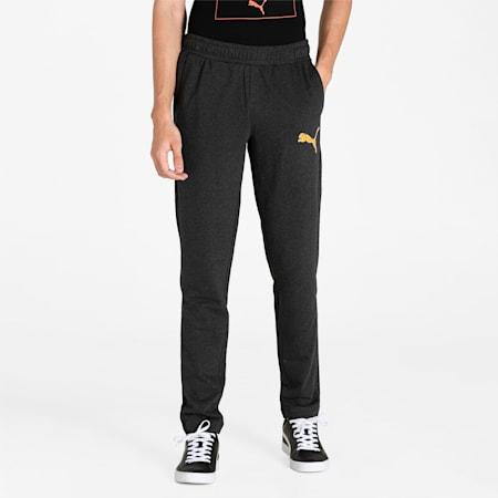 PUMA Graphic Men's Pants, Dark Gray Heather, small-IND