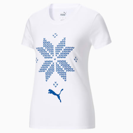 Holiday Snowflake Women's Tee, Puma White, small