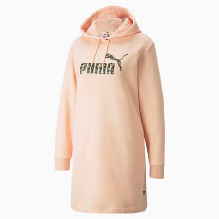 Vestido con capucha Winterized para mujer, Peach Parfait, pequeño