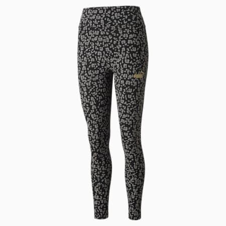 Leggings estampados Winterised para mujer, Puma Black, pequeño