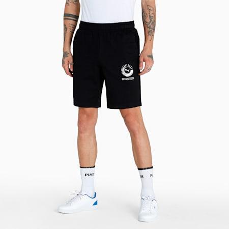 PUMA x 1DER Men's Sweat Shorts, Puma Black, small-IND