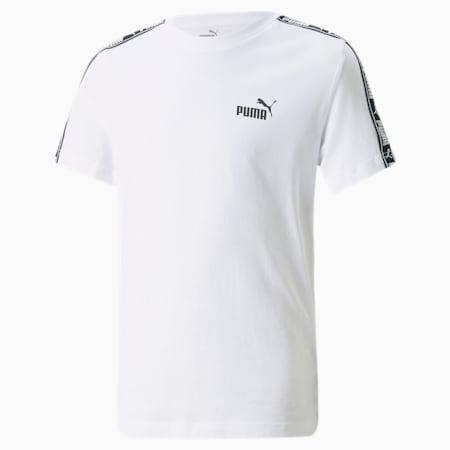 Młodzieżowa koszulka z ozdobną taśmą, Puma White, small