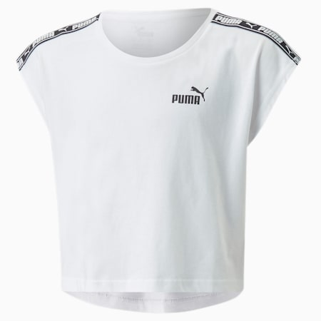 Tape Youth T-Shirt, Puma White, small