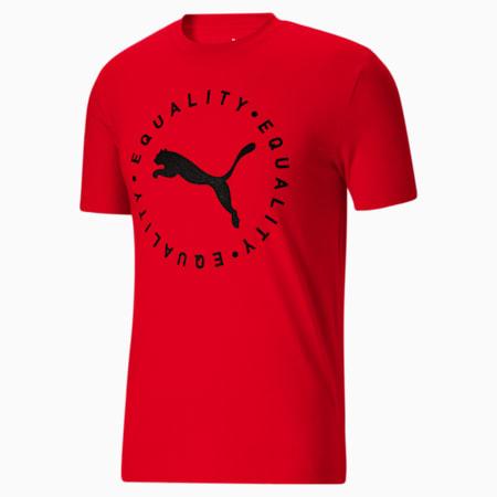 T-shirtFull Circle Equality, homme, Rouge risque élevé, petit
