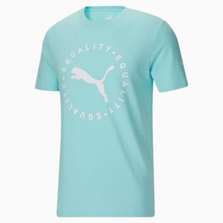T-shirtFull Circle Equality, homme, Bleu angélique, petit