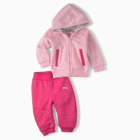 CN Hooded Babies' Jogger Set, orchid pink, small
