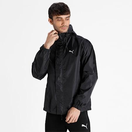 PUMA Men's Rain Jacket, Puma Black, small-IND