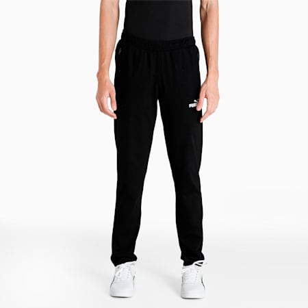 Zippered Men's Jersey Pants, Puma Black, small-IND