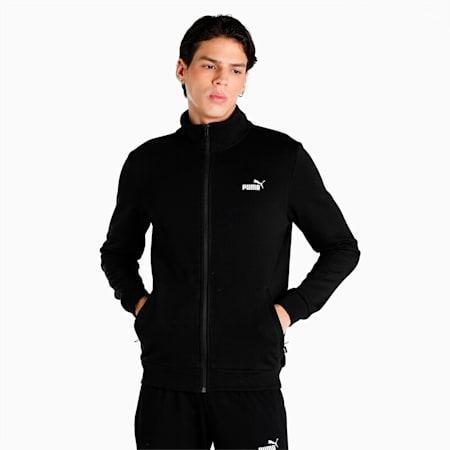 India Men's Sweat Jacket, Puma Black, small-IND