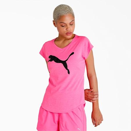 Heather Cat Women's T-Shirt, Luminous Pink Heather, small-IND