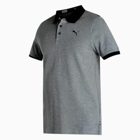 PUMA Pique Men's Polo, Medium Gray Heather, small-IND