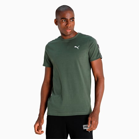 PUMA Men's Tape T-Shirt, Thyme, small-IND