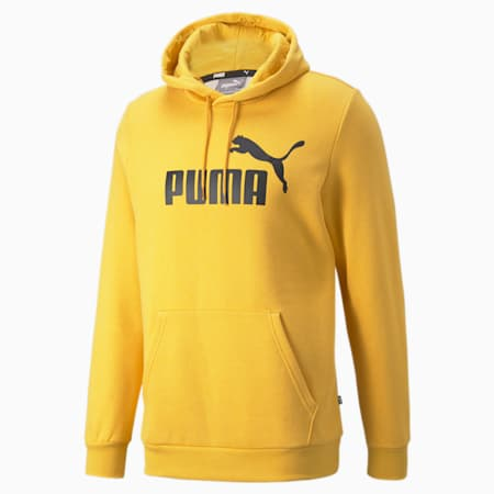 ESS Heather Men's Hoodie, Mineral Yellow, small-IND