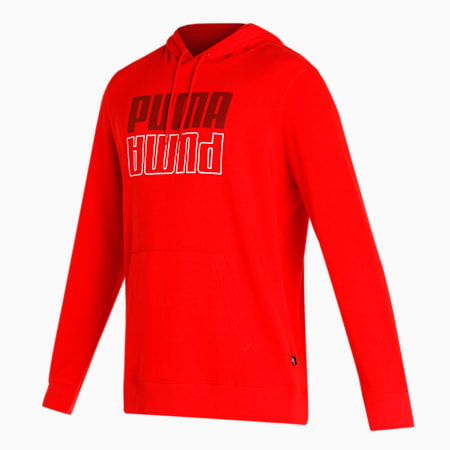 PUMA POWER Men's Hoodie, High Risk Red, small-IND