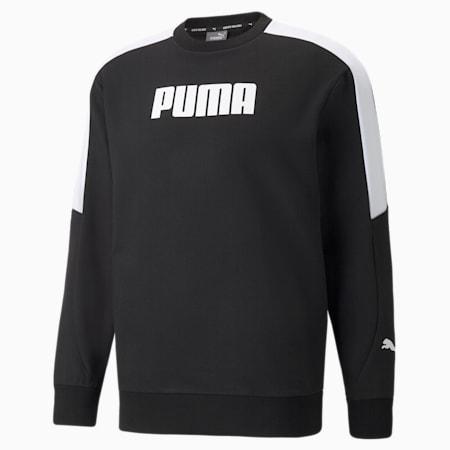 Modern Sports Crew Men's Sweat Shirt, Puma Black, small-IND