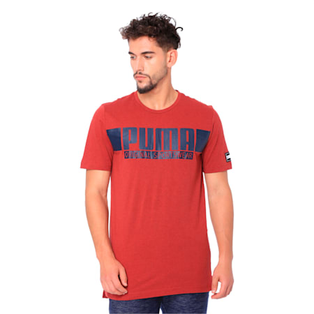 STYLE Athletics Graphic Tee, Red Dahlia Heather, small-IND