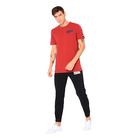 Style Athletics Men's T-Shirt, Red Dahlia Heather, small-IND