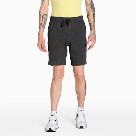 Terry Embroidered PUMA Cat Logo Men's Shorts, Dark Gray Heather, small-IND
