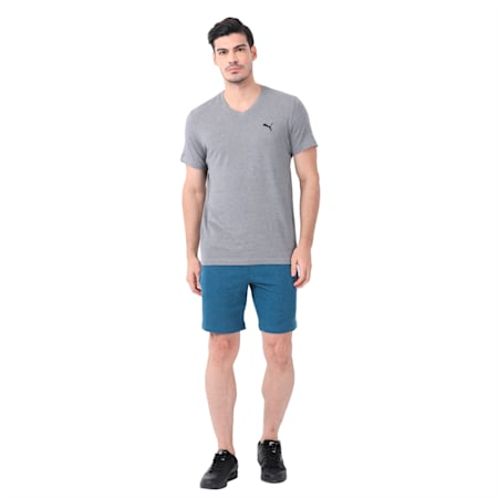 Terry Men's Shorts, Sailor Blue Heather, small-IND