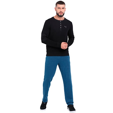Henley Sweatshirt, Puma Black, small-IND