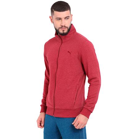 Sweat Jacket Zip Pockets TR, Tibetan Red Heather, small-IND